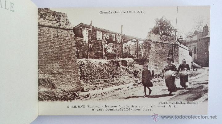 Postales: BLOQUE 24 POSTALES, AMIENS RUINAS DE LA GRAN GUERRA 1914-1918 - Foto 4 - 49236664