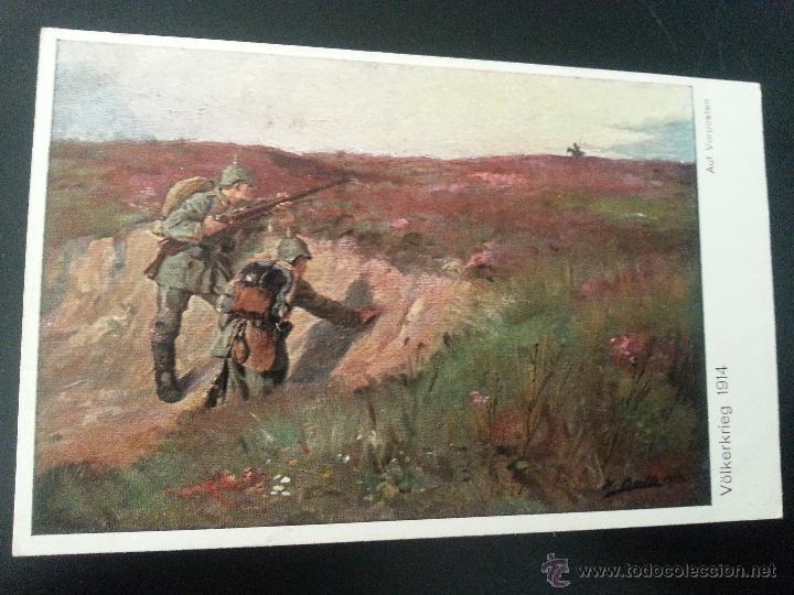 POSTAL I GUERRA MUNDIAL .VOLKERKRIEG 1914 (Postales - Postales Temáticas - I Guerra Mundial)