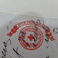 Postales: GUERRA MUNDIAL - CIRCULADA - SELLO CRUZ ROJA . 1915. Lote 49700700
