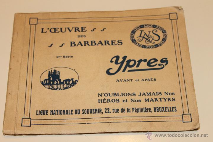 LIBRO POSTALES DE YPRES ANTES Y DESPUES DEL BOMBARDEO ALEMAN 1915, BRUSELAS (Postales - Postales Temáticas - I Guerra Mundial)