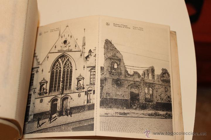 Postales: LIBRO POSTALES DE YPRES ANTES Y DESPUES DEL BOMBARDEO ALEMAN 1915, BRUSELAS - Foto 3 - 49715983