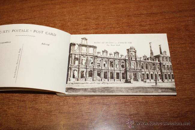 Postales: ALBUM SOUVENIR. REIMS, WAR-PICTURES. 20 POSTALES PRIMERA GUERRA MUNDIAL - Foto 2 - 52428408