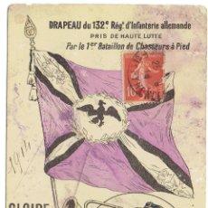 Postales: PS5801 POSTAL DE LA BANDERA DEL 132 RÉGIMEN DE INFANTERÍA ALEMÁN. I GUERRA MUNDIAL. 1914. Lote 48868852