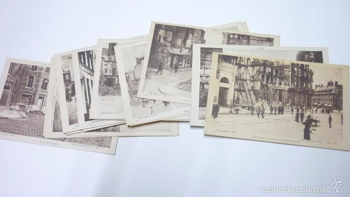 Postales: Lote de 29 postales LILLE. (Francia). Originales. I Guerra Mundial. Efectos bombardeos.Sin circular. - Foto 2 - 55884451
