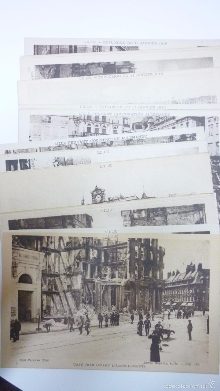 Postales: Lote de 29 postales LILLE. (Francia). Originales. I Guerra Mundial. Efectos bombardeos.Sin circular. - Foto 3 - 55884451