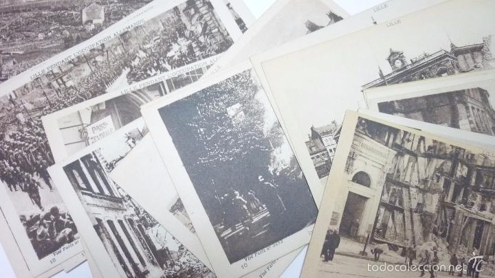 Postales: Lote de 29 postales LILLE. (Francia). Originales. I Guerra Mundial. Efectos bombardeos.Sin circular. - Foto 5 - 55884451