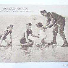 Postales: BUENOS AMIGOS. POSTAL PROPAGANDISTA DE LOS ALIADOS. I GUERRA MUNDIAL. SIN CIRCULAR. Lote 55884698