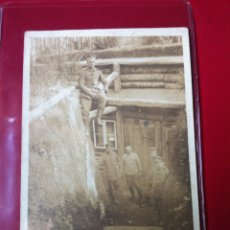 Postales: FOTO POSTAL ALEMANA 1GM REFUGIO DE TRINCHERA. Lote 55888000
