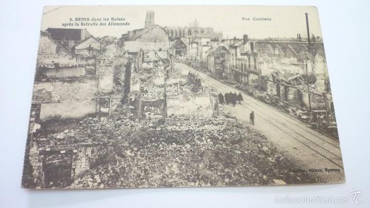 REIMS (FRANCIA). POSTAL ORIGINAL I GUERRA MUNDIAL (Postales - Postales Temáticas - I Guerra Mundial)