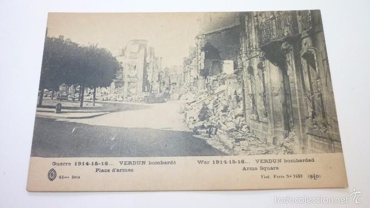 VERDUN (FRANCIA). POSTAL ORIGINAL I GUERRA MUNDIAL (Postales - Postales Temáticas - I Guerra Mundial)