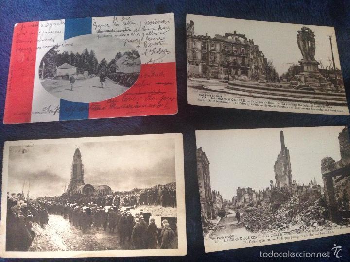 LOTE MILITAR POSTALES ANTIGUAS I GUERRA MUNDIAL (Postales - Postales Temáticas - I Guerra Mundial)