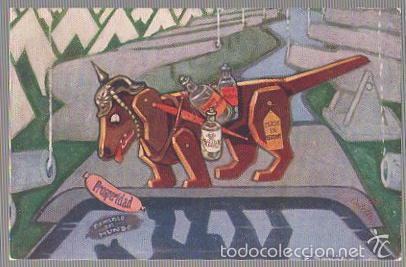 TARJETA POSTAL ACTUALIDAD DE ESOPO. EL PERRO Y LA SOMBRA (Postales - Postales Temáticas - I Guerra Mundial)