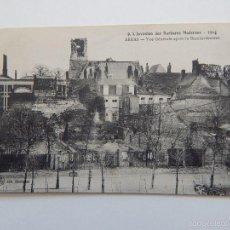 Postales: 9. L'INVASION DES BARBARES MODERNES 1914. ARRAS. VUE GÉNÉRALE APRÈS LE BOMBARDEMENT. Lote 58494512