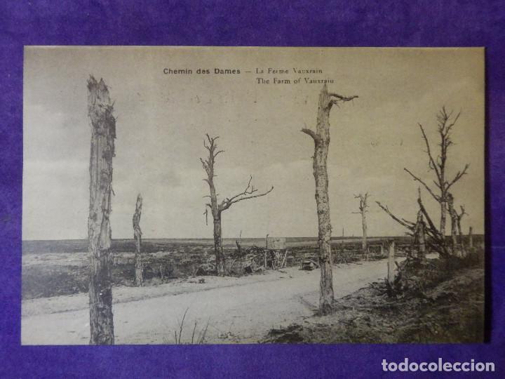 POSTAL - PRIMERA GUERRA MUNDIAL - 1ª - I - CHEMIN DES DAMES - LA FERME VAUXRAIN (Postales - Postales Temáticas - I Guerra Mundial)
