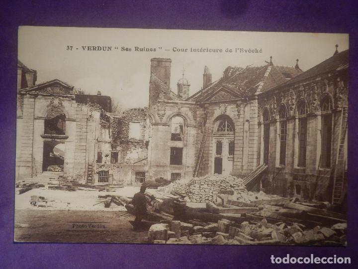 POSTAL - PRIMERA GUERRA MUNDIAL - 1ª - I - 37 - VERDUN - SUS RUINAS - PHOTO VERDUN - LB DIJON (Postales - Postales Temáticas - I Guerra Mundial)