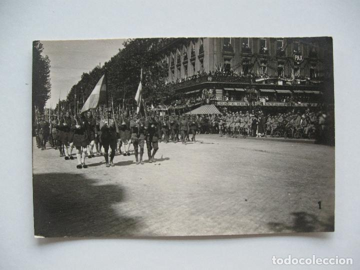 Postales: Lote de 13 postales fotográficas 1919 Paris desfile de la victoria 1ª guerra mundial - Foto 2 - 67458229
