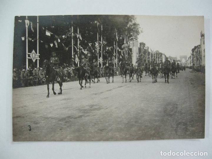 Postales: Lote de 13 postales fotográficas 1919 Paris desfile de la victoria 1ª guerra mundial - Foto 4 - 67458229