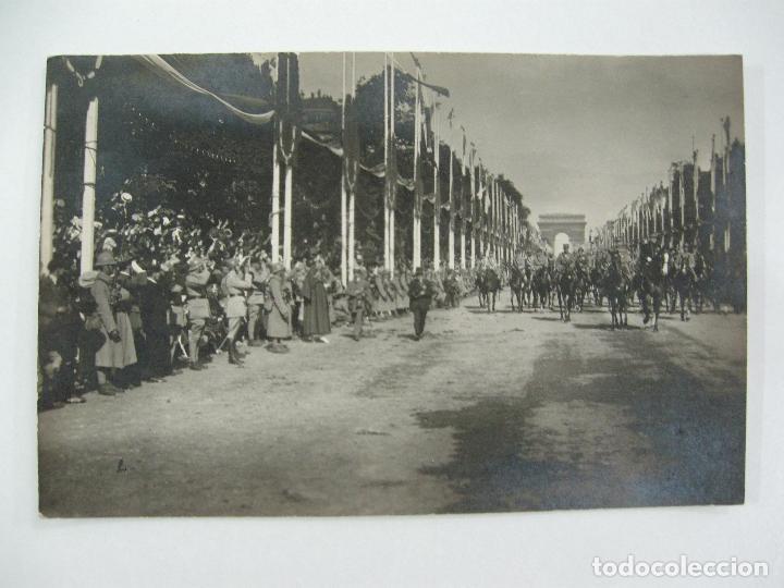 Postales: Lote de 13 postales fotográficas 1919 Paris desfile de la victoria 1ª guerra mundial - Foto 5 - 67458229