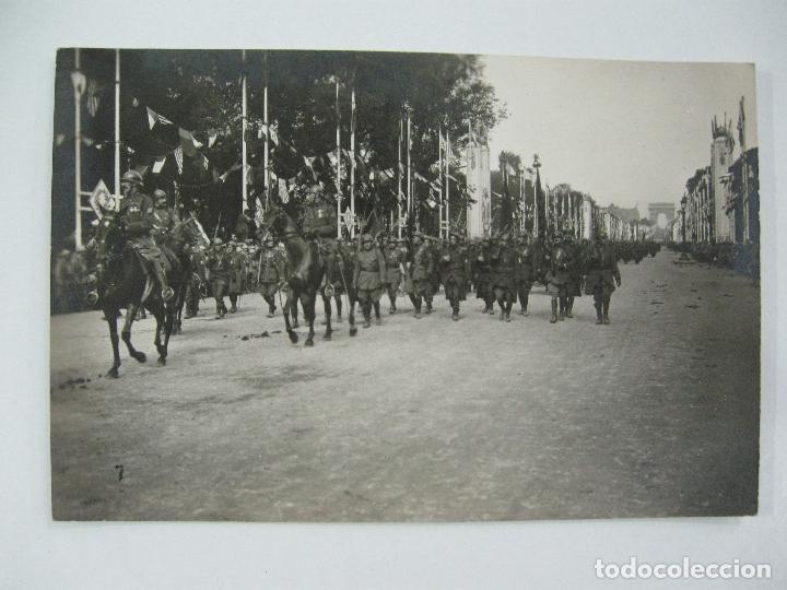 Postales: Lote de 13 postales fotográficas 1919 Paris desfile de la victoria 1ª guerra mundial - Foto 8 - 67458229