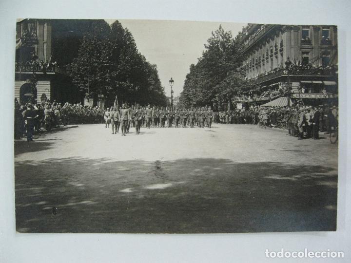 Postales: Lote de 13 postales fotográficas 1919 Paris desfile de la victoria 1ª guerra mundial - Foto 9 - 67458229