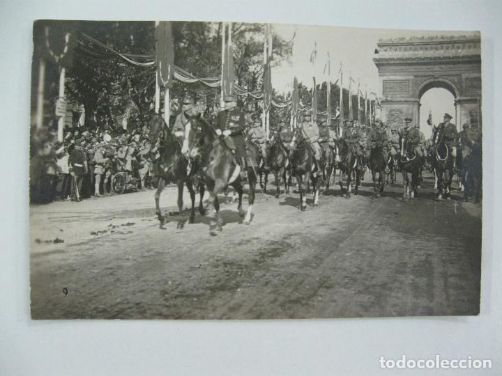 Postales: Lote de 13 postales fotográficas 1919 Paris desfile de la victoria 1ª guerra mundial - Foto 10 - 67458229
