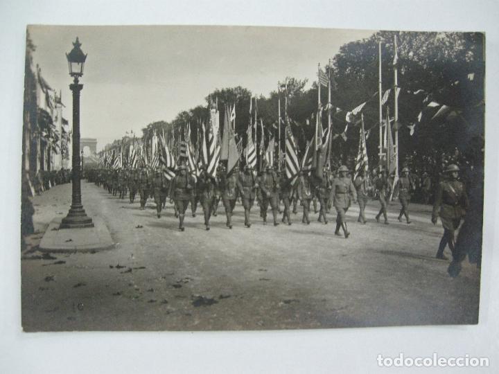 Postales: Lote de 13 postales fotográficas 1919 Paris desfile de la victoria 1ª guerra mundial - Foto 11 - 67458229