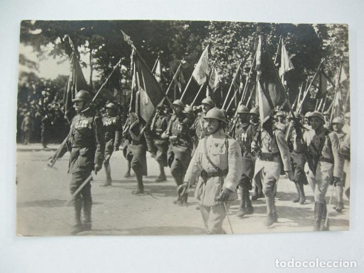 Postales: Lote de 13 postales fotográficas 1919 Paris desfile de la victoria 1ª guerra mundial - Foto 14 - 67458229