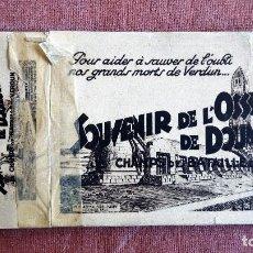 Postales: BOLQUE CON 20 POSTALES, DEL CAMPO DE BATALLA DE VERDUN, SOUVENIR DE L'OSSUAIRE DE DOUAMONT. Lote 73776683