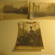Postales: 3 POSTALES FOTOGRAFICAS. FETES COMMÉMORATIVES 11 NOVEMBRE 1920. L.H. PARIS SIN CIRCULAR. Lote 73850739