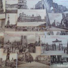 Postales: FANTASTICO LOTE DE 20 CARTE POSTALE DE REIMS DESPUES DE LA GUERRA- PHOTO EDITION OR-BRUNEL. Lote 76828175