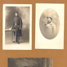 Postales: TRES TARJETAS POSTALES, RETRATOS DE UN MISMO SOLDADO FRANCES DURANTE LA 1ª GUERRA MUNDIAL, 1914/18.. Lote 81153512