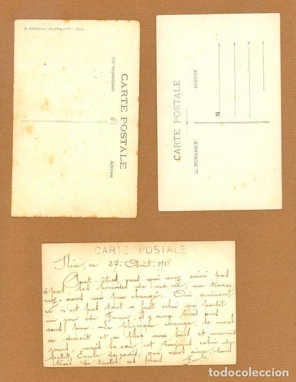 Postales: TRES TARJETAS POSTALES, RETRATOS DE UN MISMO SOLDADO FRANCES DURANTE LA 1ª GUERRA MUNDIAL, 1914/18. - Foto 2 - 81153512