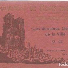 Postales: M110- BLOC DE 12 POSTALES DEL BOMBARDEO DE REIMS. DE 1914 -1918 -SERIE B DE 1919. Lote 86739240