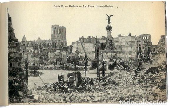 Postales: M110- BLOC DE 12 POSTALES DEL BOMBARDEO DE REIMS. DE 1914 -1918 -SERIE B de 1919 - Foto 2 - 86739240