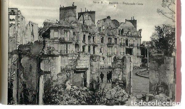 Postales: M110- BLOC DE 12 POSTALES DEL BOMBARDEO DE REIMS. DE 1914 -1918 -SERIE B de 1919 - Foto 3 - 86739240