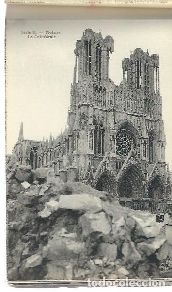 Postales: M110- BLOC DE 12 POSTALES DEL BOMBARDEO DE REIMS. DE 1914 -1918 -SERIE B de 1919 - Foto 4 - 86739240