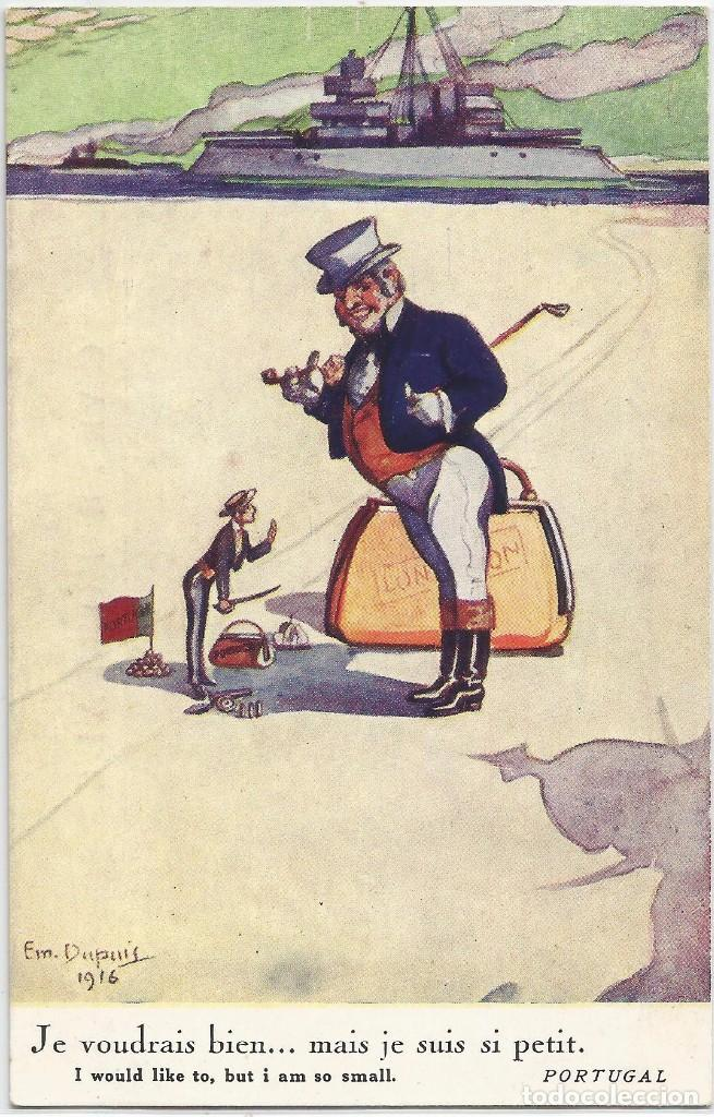 POSTAL SERIE PAISES NEUTRALES I GUERRA MUNDIAL .-Nº 117 PORTUGAL .- ILUSTRA EM. DUPUIS 1916 (Postales - Postales Temáticas - I Guerra Mundial)