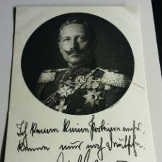 Postales: POSTAL DEL KAISER GUILLERMO II FIRMADA. Lote 93016775