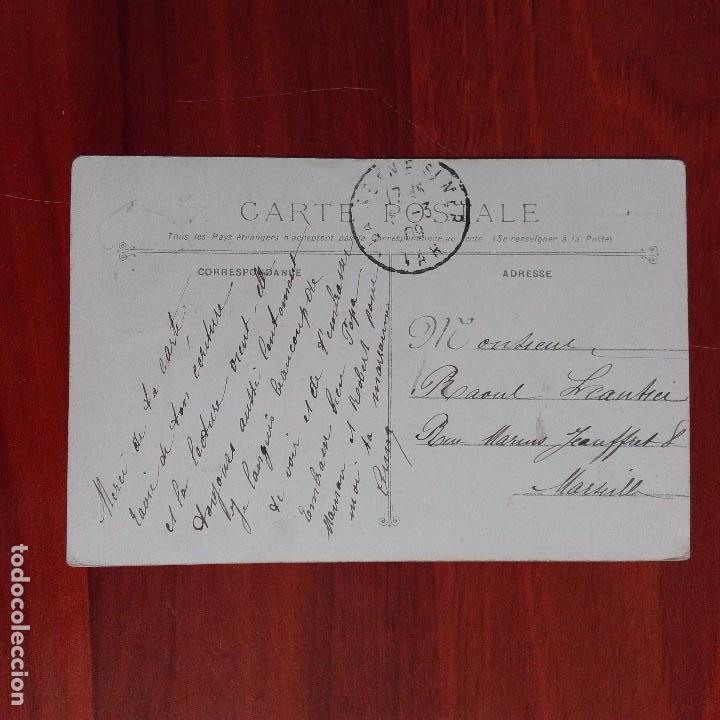 Postales: Postal antigua Francia barcos Marina militar circulada Marsella - Foto 2 - 94713075