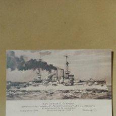 Postales: POSTAL ANTIGUA BARCOS DE GUERRA ALEMANIA 1908 SCHLESIEN NUEVA. Lote 94780243