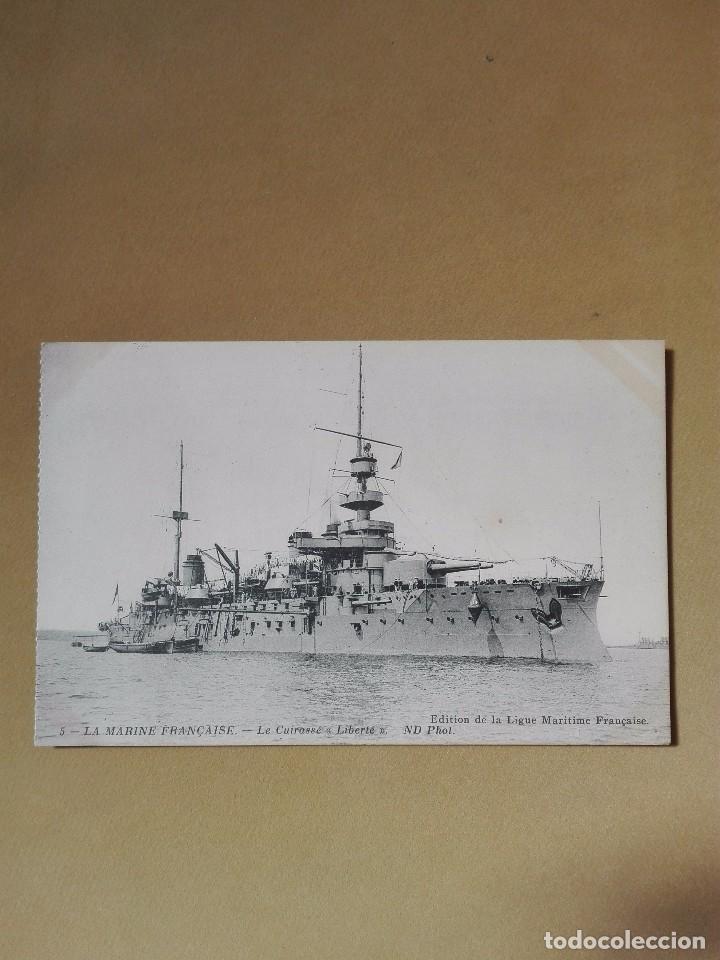 POSTAL ANTIGUA BARCOS DE GUERRA FRANCIA LE CUIRASSE LIBERTÉ NUEVA (Postales - Postales Temáticas - I Guerra Mundial)