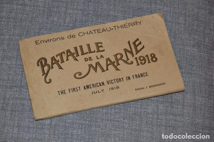 I GM - VINTAGE - LIBRITO DE POSTALES - BATAILLE DE LA MARNE 1918 - FIRST AMERICAN VICTORY IN FRANCE (Postales - Postales Temáticas - I Guerra Mundial)
