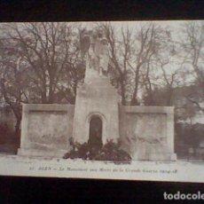 Postales: WW1 GUERRA MUNDIAL Nº 25 AGEN MONUMENT AUX MORTS GRANDE GUERRE 1914 18 . Lote 101233683