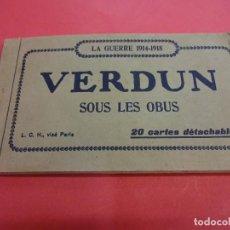 Postales: VERDUN. BLOCK 20 POSTALES ORIGINAL I GUERRA MUNDIAL (1914-1918). Lote 102776475