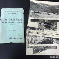 Postales: 20 TARJETAS POSTALES - LA GUERRA EN EL FRENTE ITALIANO 1ª G. M.- FOT. LACOSTE MADRID - COL. COMPLETA. Lote 102787451