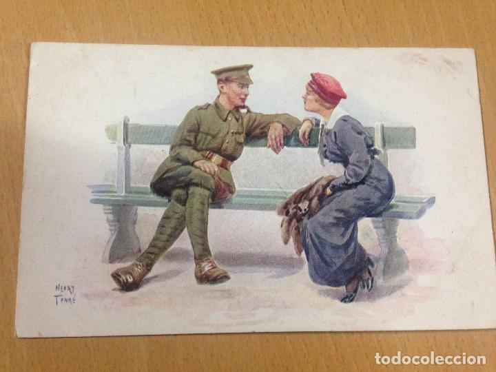 ANTIGUA POSTAL ROMÀNTICA PRIMERA GUERRA MUNDIAL CÒMICA TENRE FRANCESA (Postales - Postales Temáticas - I Guerra Mundial)