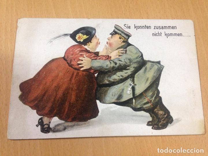 ANTIGUA POSTAL CÒMICA MILITAR ALEMANA (Postales - Postales Temáticas - I Guerra Mundial)