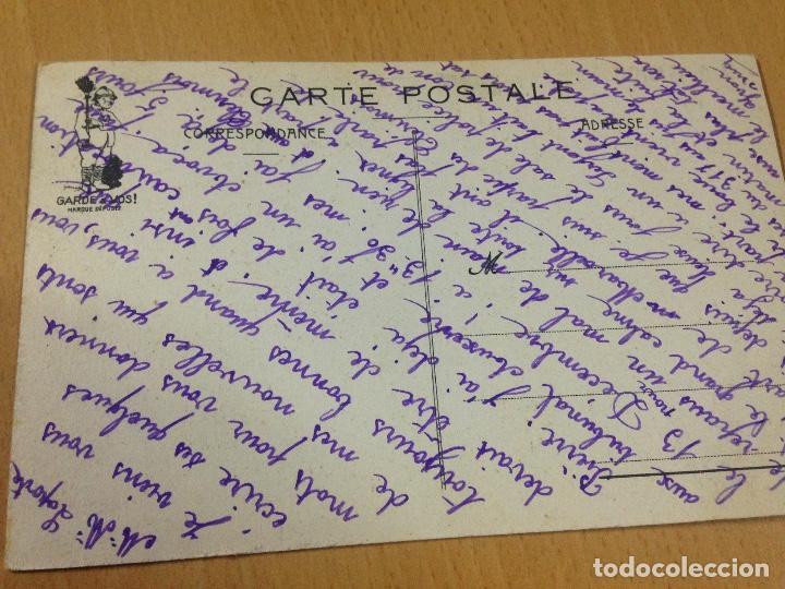 Postales: ANTIGUA POSTAL CÒMICA MILITAR CUARTEL FRANCESA - Foto 3 - 104773243