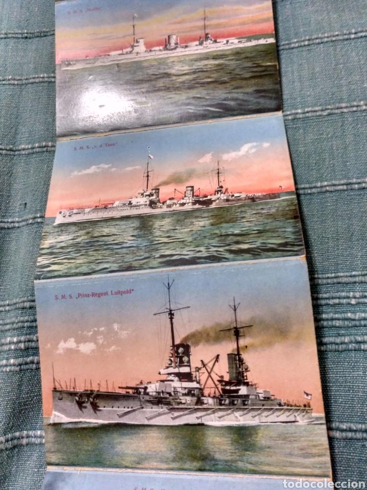 Postales: Desplegable 12 postales de la armada escuadra Alemania primera guerra mundial Conjunto difícil. - Foto 4 - 107446054