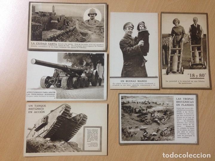 LOTE COLECCION POSTALES MILITARES EJERCITO BRITANICO PRIMERA GUERRA MUNDIAL (Postales - Postales Temáticas - I Guerra Mundial)